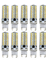 HKV® Dimmable G9 G4 G8 GY6.35 E11 5W 80LED 4014SMD 400-500Lm Warm White Cool White LED Bi-pin Lights AC 110V / AC 220V 10 pcs