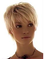 Elegant   Comfortable  Straight Short Human Hair Wig Fashionable     Woman hair