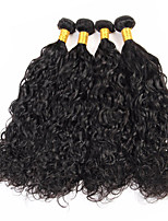 Natural Color Hair Weaves Brazilian Texture Water Wave 12 Months 4 Pieces hair weaves