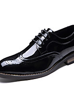 Men's Oxfords Spring Summer Formal Shoes Patent Leather Wedding Office & Career Party & Evening Black Walking Shoes