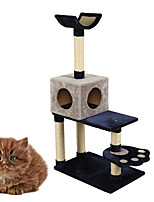 Cat Toy Interactive Luxury Climbing Rack Scratch Pad Durable Wood Plush Blue