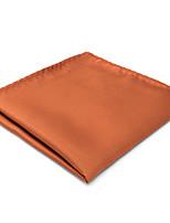 CH16 Men's Handmade Pocket Square Handkerchiefs Orange Solid 100% Silk Wedding Fashion Dress Casual Classic