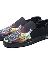 Men's Loafers & Slip-Ons Spring Fall Comfort Mary Jane PU Outdoor Office & Career Casual Black