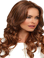 20inch Synthetic Hair Loose Wavy Wigs with Medium Dark Brown Water Wavy Wigs for Women