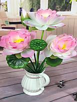 1 Rama Poliéster Loto Flor de Mesa Flores Artificiales
