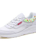 Women's Sneakers Spring Summer Mary Jane Comfort Microfibre Leather Tulle Outdoor Athletic Casual Running Flat Heel Lace-upBlushing Pink