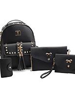 Women Backpack PU All Seasons Formal Casual Outdoor Office & Career Shopping Bucket Zipper Black Gray