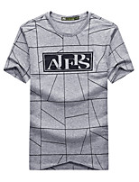Men's T-shirt Camping / Hiking Breathable Summer Gray Black