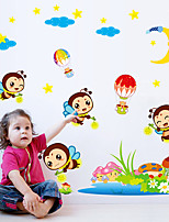 Animales Caricatura De moda Pegatinas de pared Calcomanías de Aviones para Pared Calcomanías Decorativas de Pared,Papel Material