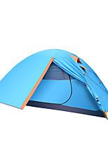 3-4 personnes Tente Double Tente pliable Une pièce Tente de camping >3000mm Aluminium Oxford Résistant à l'humidité Etanche Respirabilité-