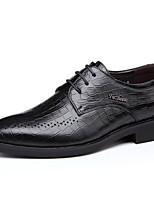 -Для мужчин-Повседневный-Кожа-На низком каблуке-Формальная обувь-Мокасины и Свитер