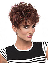 Popular Mixed Brown Color Wigs For Black Women Curly Synthetic European Women Wigs