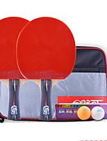 Ping Pang/Tennis de table Raquettes Ping Pang Bois Long Manche Boutons