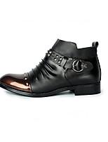 Мужской спортивные туфли весна комфорт pu casual экран цвет черный / золотой черный