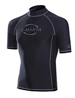 Men's Wetsuit Top Breathable Quick Dry Anatomic Design Chinlon Diving Suit Short Sleeve Tops-Diving Spring Summer Fashion