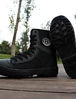 Черный-Для мужчин-Повседневный-Хлопок-На плоской подошве-Light Up обувь-Кеды