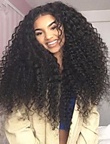 Premier® Kinky Curly Human Full Lace or Glueless Full Lace Hair Wigs 130%150%180% Density Brazilian Virgin Remy Wigs with Baby Hair