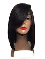 Top Grade Brazilian Virgin Hair Bob Lace Wigs Straight Full Lace human Hair Wigs for Black Woman Short Virgin Hair Bob Wig with Side Bang