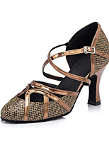 Sapatos de Dança(Marron) -Feminino-Personalizável-Moderna