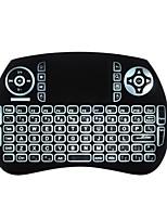 Aire teclado del ratón retroiluminado volar ardillas kp21btl bluetooth 2.4ghz inalámbrico para android tv caja y pc con touchpad