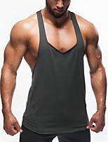 Men's Casual/Daily Beach Simple Active Summer Tank Top,Letter Round Neck Sleeveless Cotton Medium