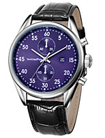 Men's Fashion Watch Quartz Leather Band Black Brown Gloden Brown Purple Black