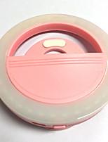 Lampe mémorisée par téléphone portable lampe à retardateur usb chargeur flash de nuit flash de lumière batterie au lithium intégrée rose