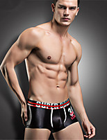 Man's Silver Soft Cool Shorts Boxer Briefs Underwear Bulge Pouch Underpants