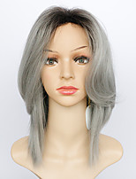 Ombre Black and Grey Wigs Halloween Party Synthetic Capless Wigs