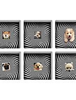 Pet Dog 3D Bathroom Non-Slip Stickers The Floor Tile Individuality Decorative Stickers Light in the Dark