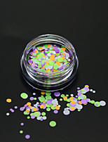 1Bottle Fashion Mixed Color Nail Art Colorful Glitter Round Paillette Nail Art DIY Beauty Round Slice Decoration P26