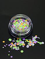 1bottle fashion mixed color nail art coloré paillettes rondes paillette nail art diy beauté rond coupure décoration p26