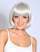 12inch Grey Short Bobo Cosplay Full Wigs High Temperature Synthetic Perrque Hair Wig