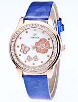 Women's Fashion Watch Wrist watch Quartz Rhinestone Leather Band Casual