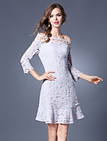 Maxlindy Women's Going out / Party/Holiday Vintage / Street chic /Lace Dress