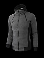 Men's Casual/Daily Simple Hoodie Solid Round Neck Micro-elastic Cotton Long Sleeve