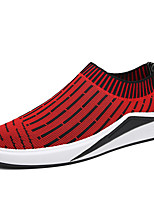 Men's Loafers & Slip-Ons Light Soles Tulle Outdoor Athletic Casual Flat Heel Silver/Black Red Black Walking Shoes