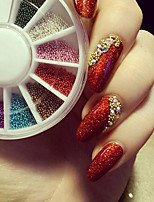 1mm 3D Nail Art Decorations Gold Silver Colorful Beads Wheel All For Nails DIY Nail Ball Wheel