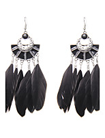 lureme® Drop Earrings Jewelry Unique Design Logo Style Turkish Gothic Fashion Feather Wings / Feather Jewelry ForWedding Party Special Occasion