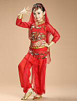 Shall We Belly Dance Outfits Kid Chiffon Spandex 4 Pieces Dance Costumes