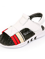 Boys' Sandals Summer Comfort Cowhide Casual Flat Heel Black White