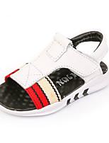 Белый Черный-Мальчики-Повседневный-Кожа-На плоской подошве-Удобная обувь-Сандалии