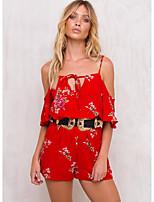 Для женщин На каждый день Рубашка Платья Костюмы Круглый вырез,просто Однотонный С короткими рукавами