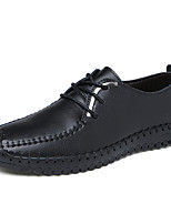 Men's Oxfords Spring Fall Comfort Tulle Casual Flat Heel Others Black White Black and White Walking