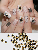 20PCS Black Metal Bordure Jewel Nail Art Decorations