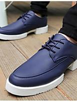 Masculino-Oxfords-ConfortoBranco Preto Azul-Couro Ecológico-Casual
