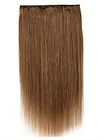 Handmade 24inch одна часть 5 зажим в выдвижении 100g человеческих волос 100% remy 120g