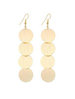 Hot Fashion Popular Simple Vintage Plated Gold/Silver Round Shape Drop Earrings For Women Dangle Long Earrings Jewelry Accessories