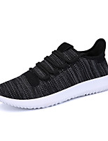Men's Fashion Sneakers Casual Yeezy Shoes Comfort Tulle Athletic Shoes Flat Heel Black / White