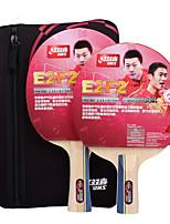 3 étoiles Ping Pang/Tennis de table Raquettes Ping Pang Bois Long Manche Manche Court Boutons